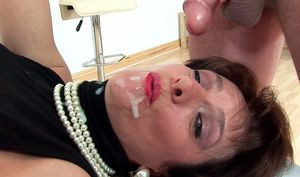 mature women facials